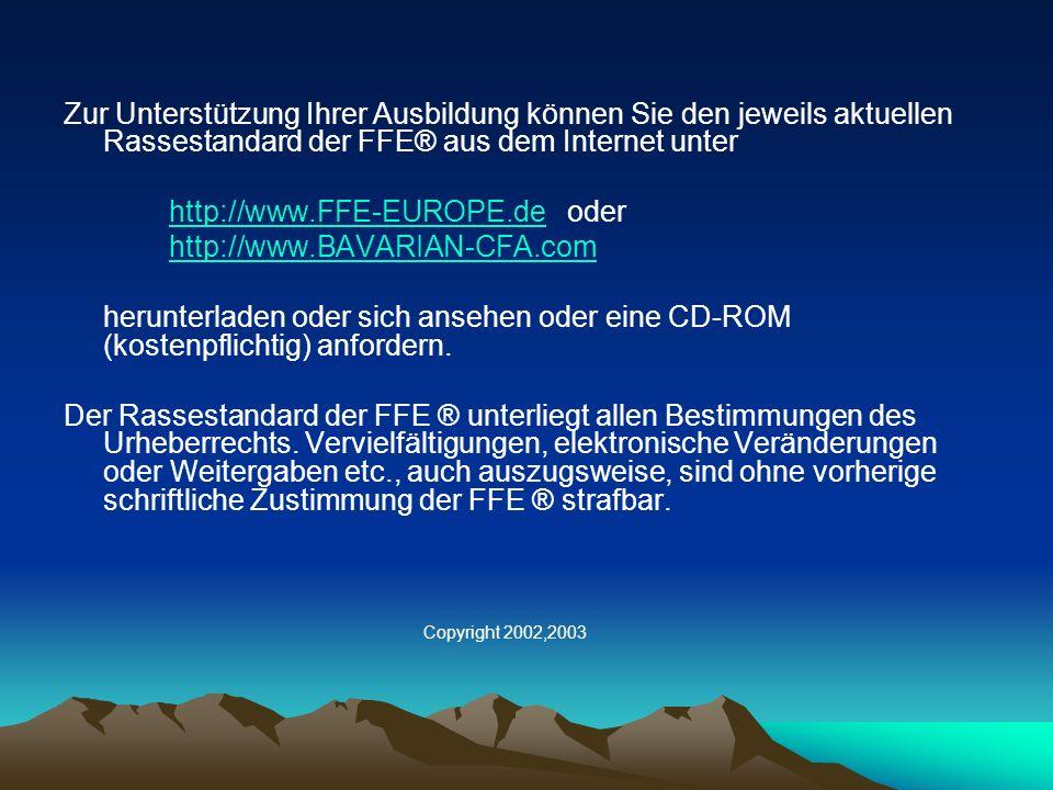 http://www.FFE-EUROPE.de oder http://www.BAVARIAN-CFA.com