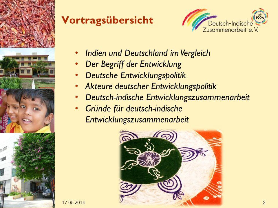 Vortragsübersicht Indien und Deutschland im Vergleich
