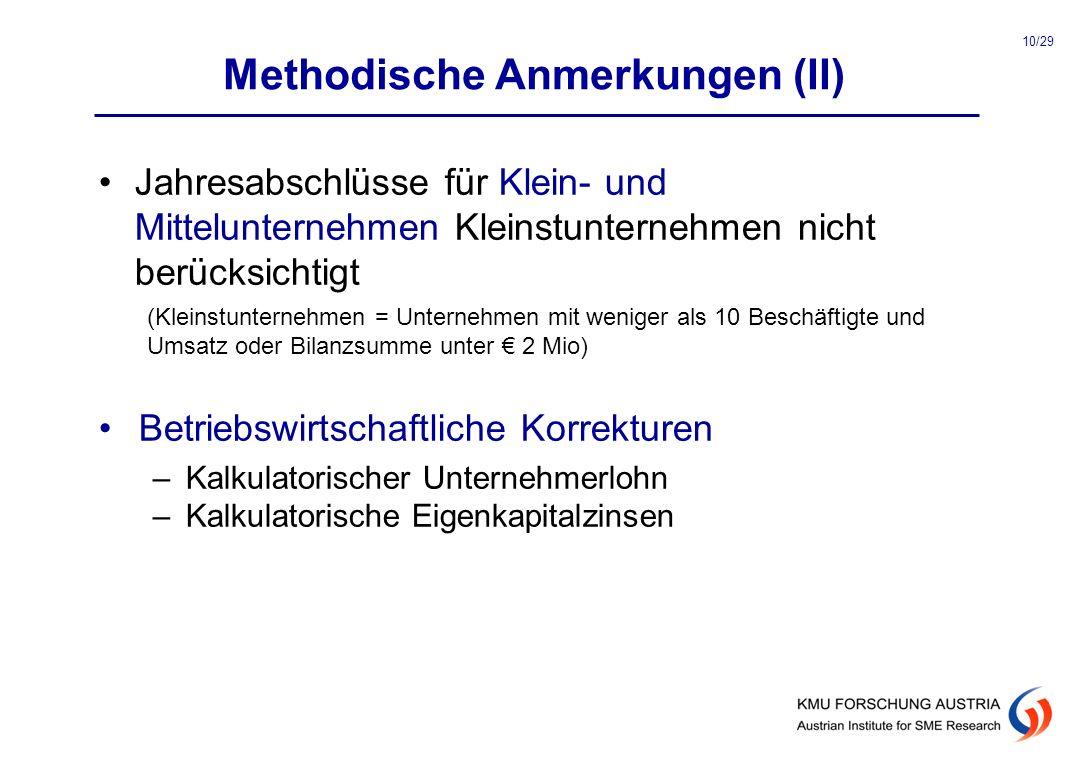 Methodische Anmerkungen (II)
