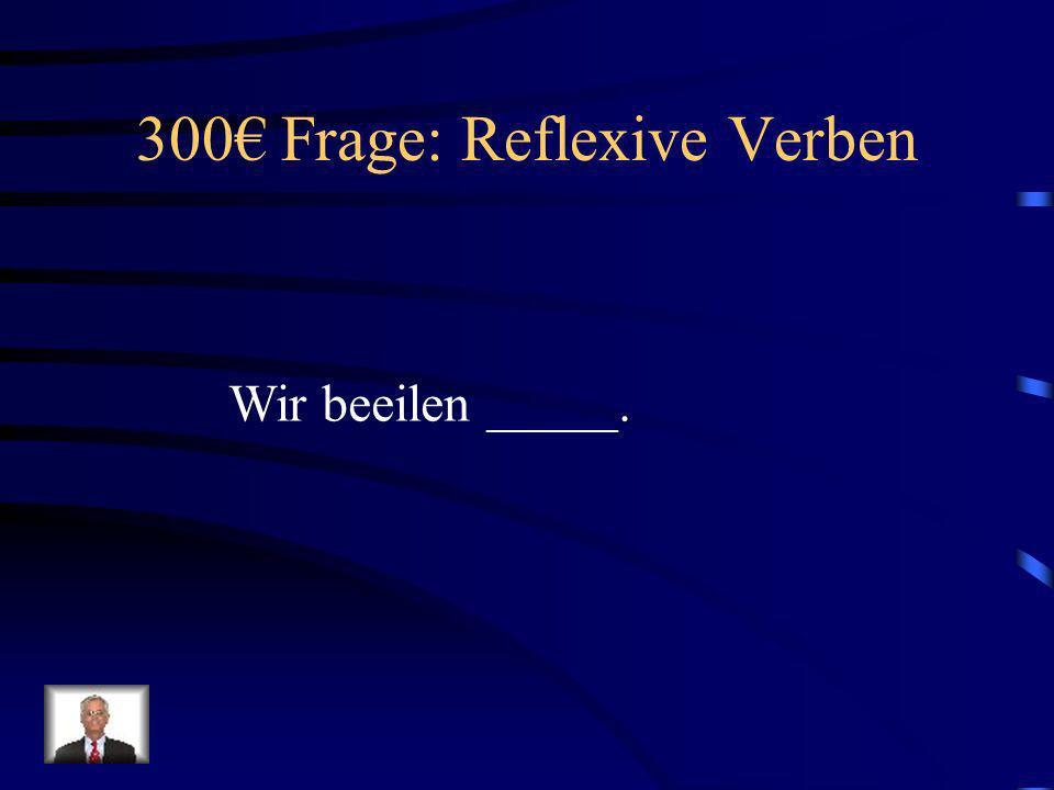 300€ Frage: Reflexive Verben