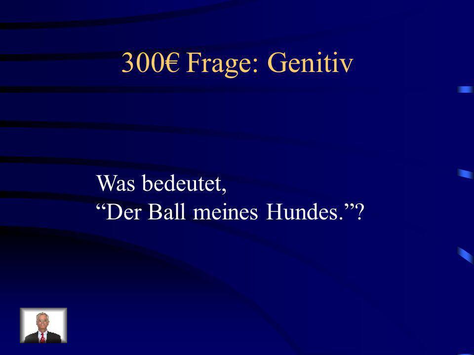 300€ Frage: Genitiv Was bedeutet, Der Ball meines Hundes.