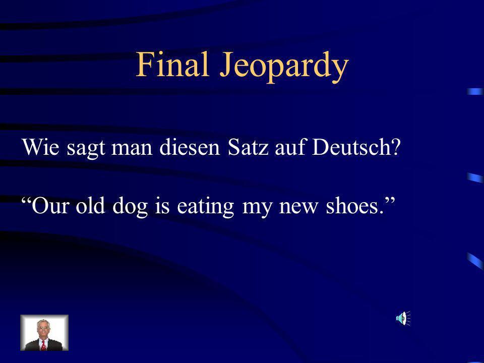 Final Jeopardy Wie sagt man diesen Satz auf Deutsch
