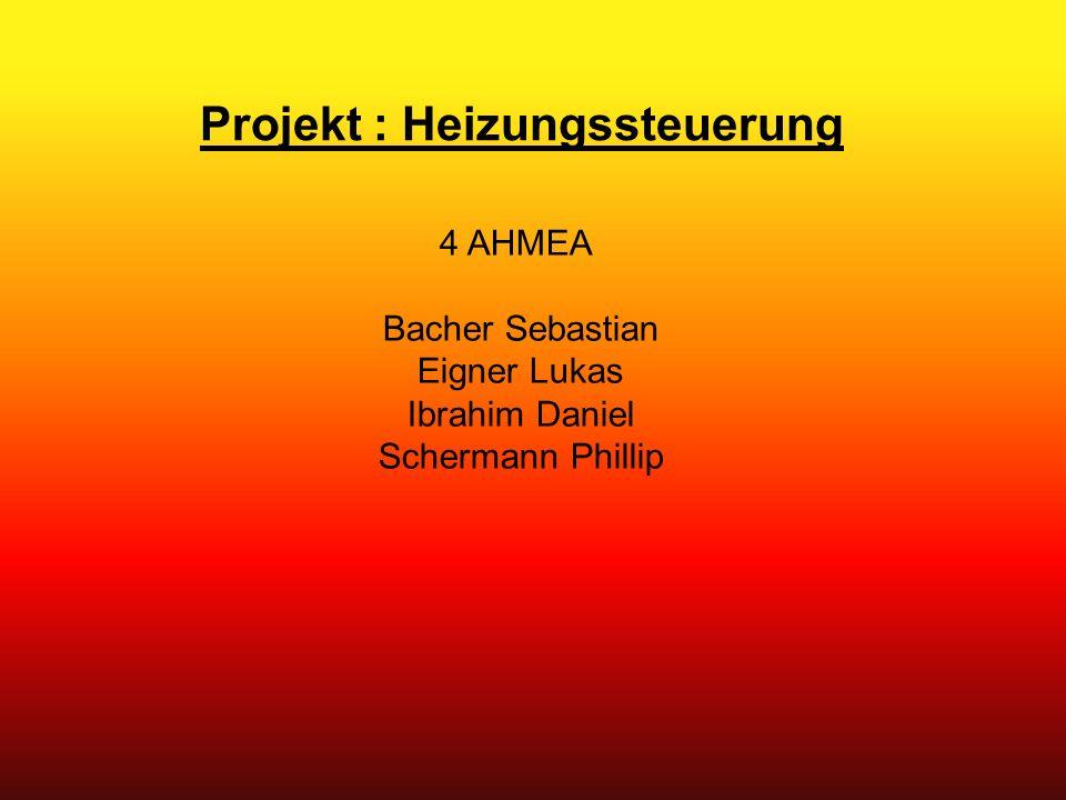 Projekt : Heizungssteuerung