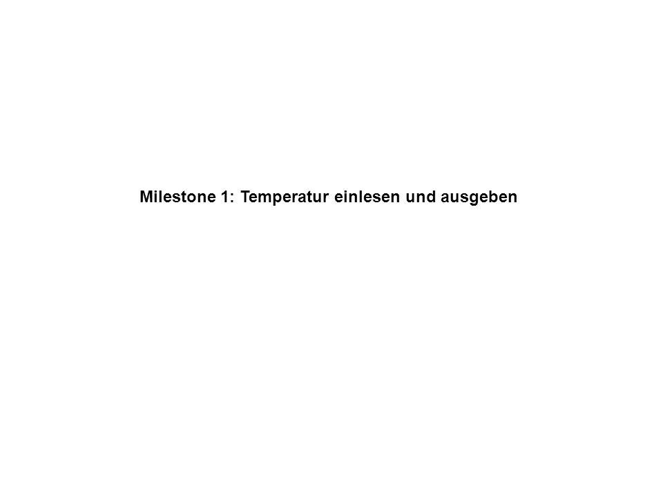 Milestone 1: Temperatur einlesen und ausgeben