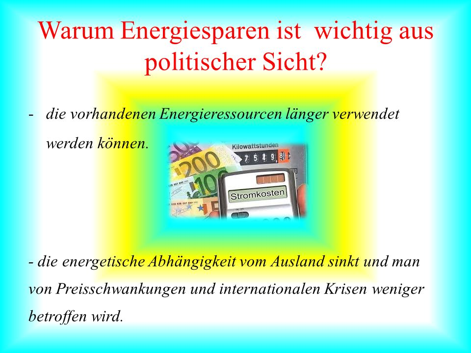Warum Energiesparen ist wichtig aus politischer Sicht