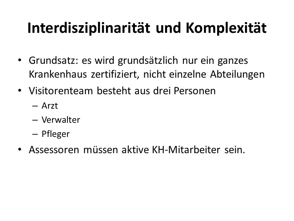 Interdisziplinarität und Komplexität
