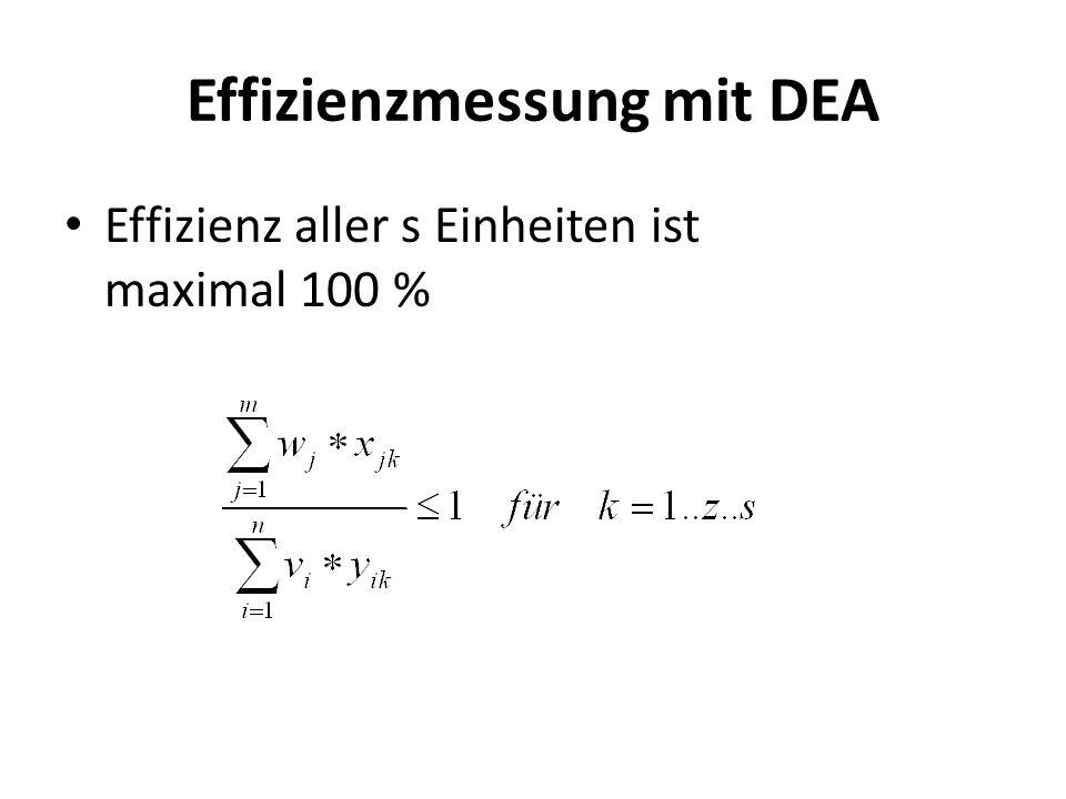 Effizienzmessung mit DEA