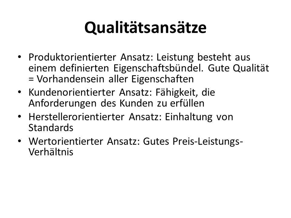 Qualitätsansätze