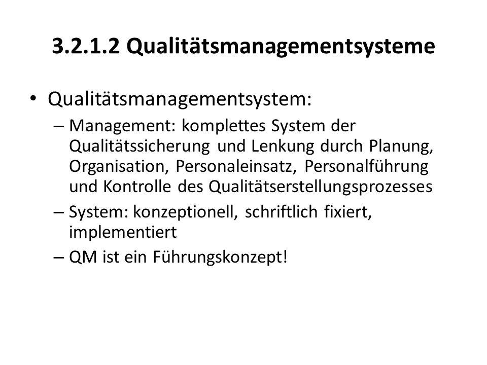 3.2.1.2 Qualitätsmanagementsysteme