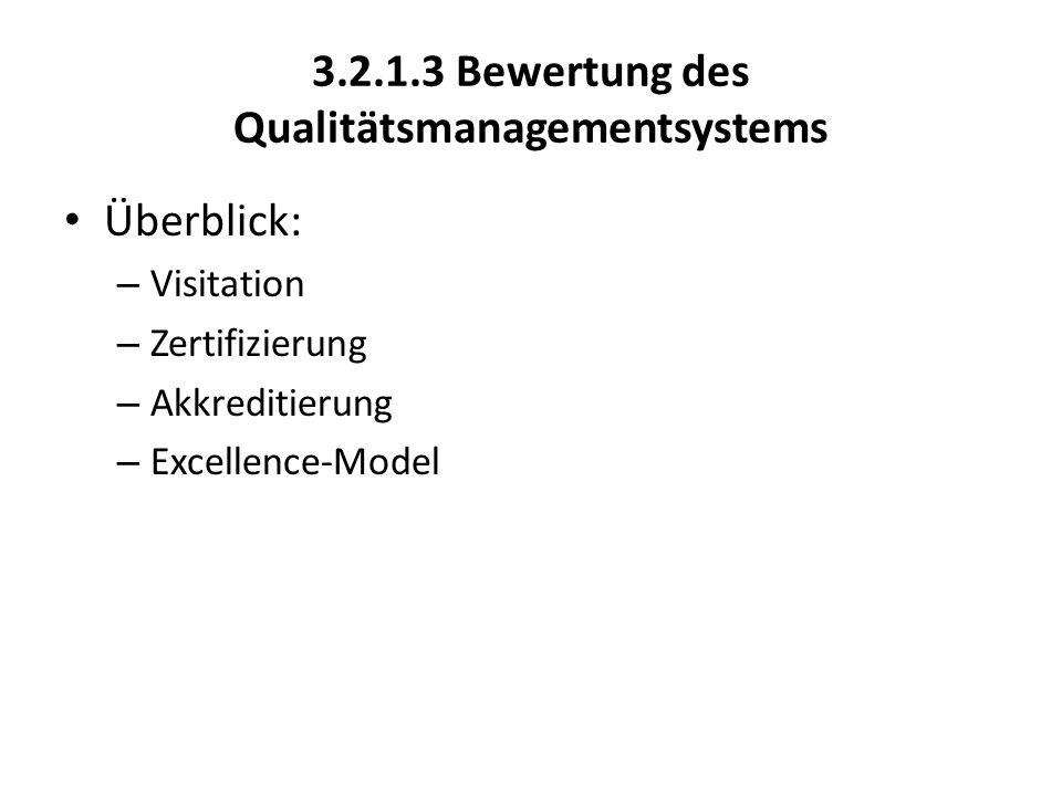 3.2.1.3 Bewertung des Qualitätsmanagementsystems