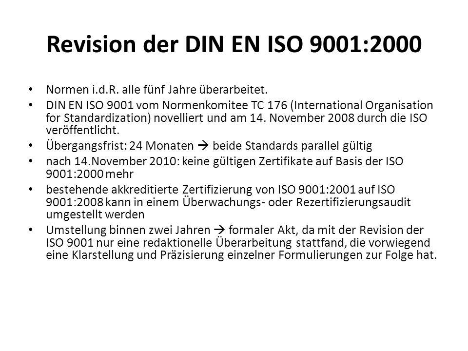 Revision der DIN EN ISO 9001:2000