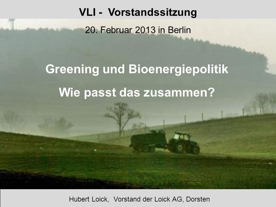 VLI - Vorstandssitzung 20. Februar 2013 in Berlin