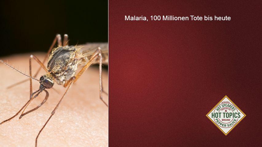 FOTOBACKGROUND Malaria, 100 Millionen Tote bis heute