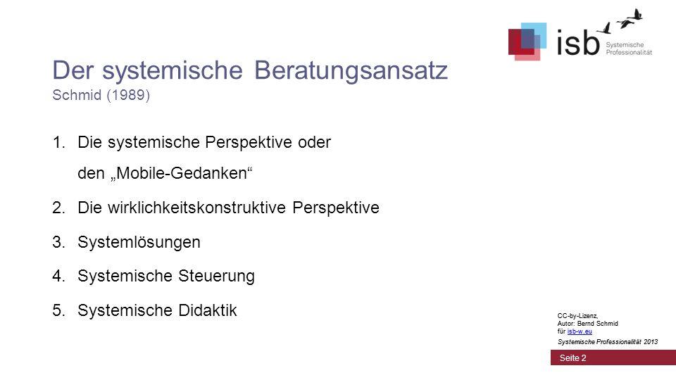 Der systemische Beratungsansatz Schmid (1989)