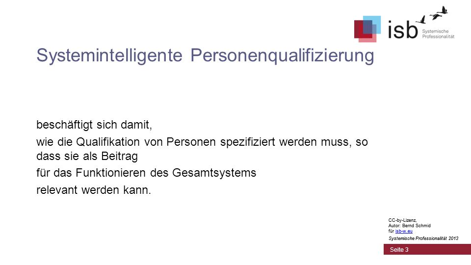 Systemintelligente Personenqualifizierung