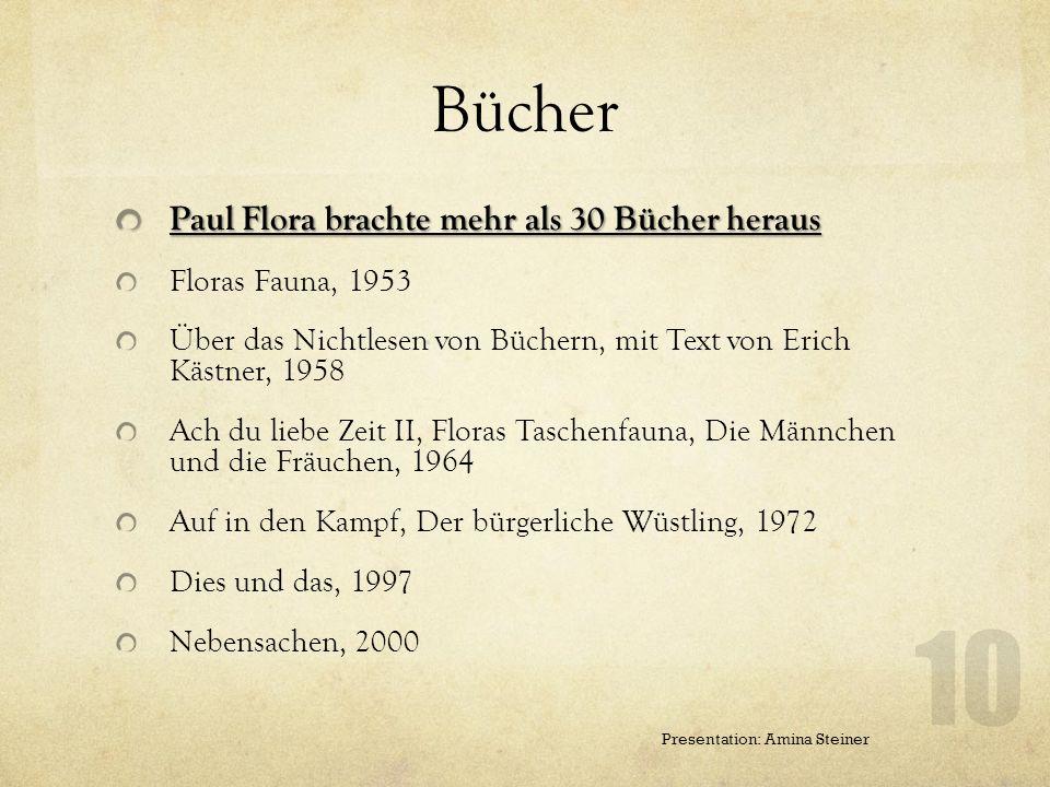 Bücher Paul Flora brachte mehr als 30 Bücher heraus Floras Fauna, 1953