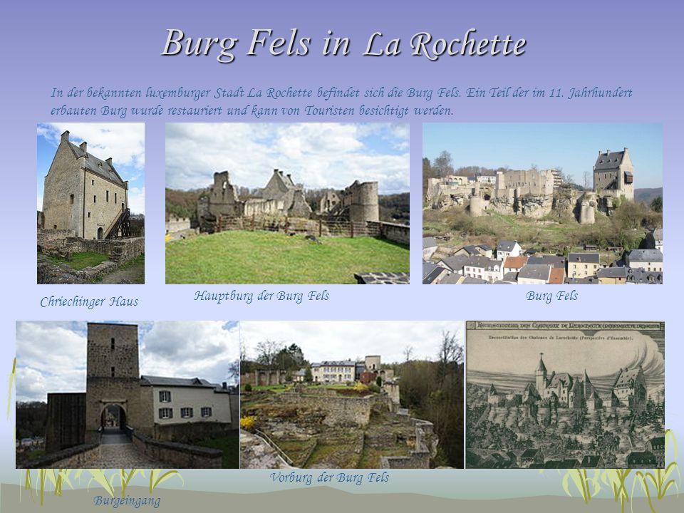 Burg Fels in La Rochette