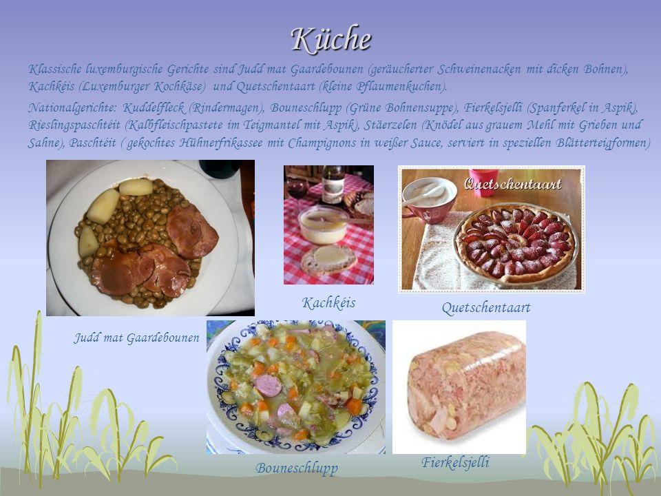 Küche Kachkéis Quetschentaart Fierkelsjelli Bouneschlupp