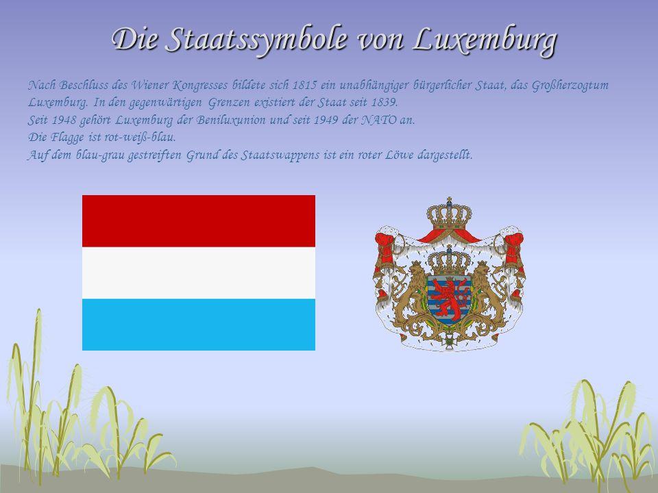 Die Staatssymbole von Luxemburg