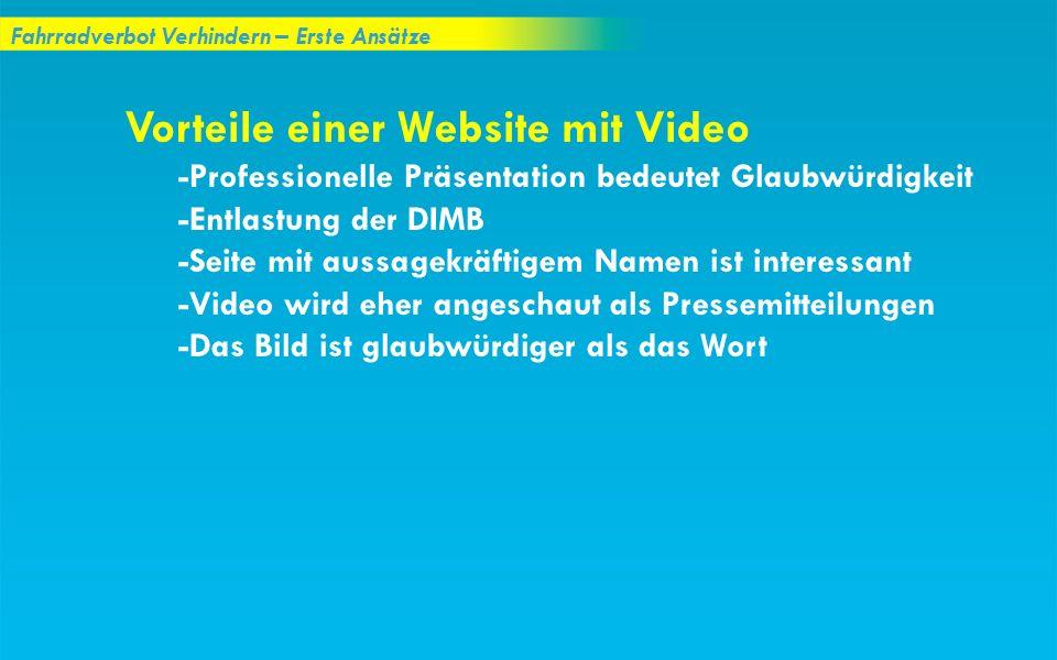 Vorteile einer Website mit Video