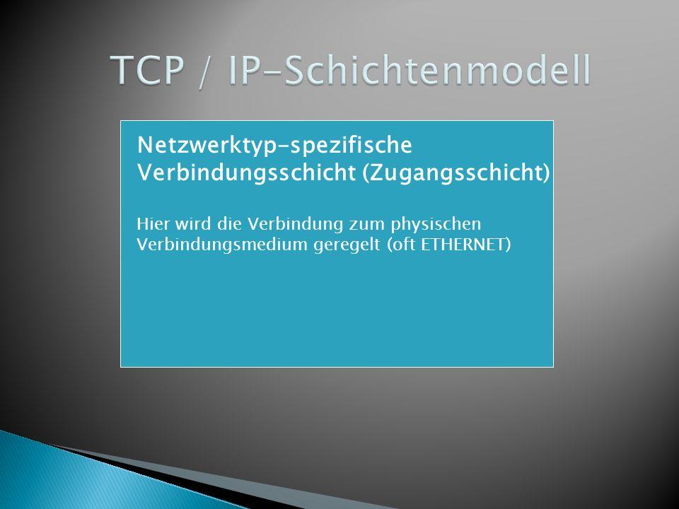 Netzwerktyp-spezifische Verbindungsschicht (Zugangsschicht)