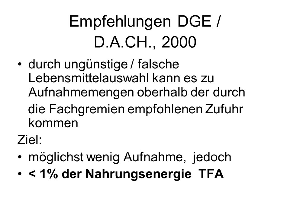 Empfehlungen DGE / D.A.CH., 2000