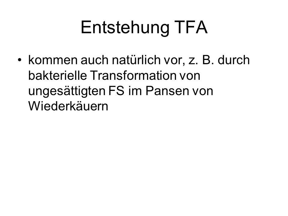 Entstehung TFA kommen auch natürlich vor, z. B.