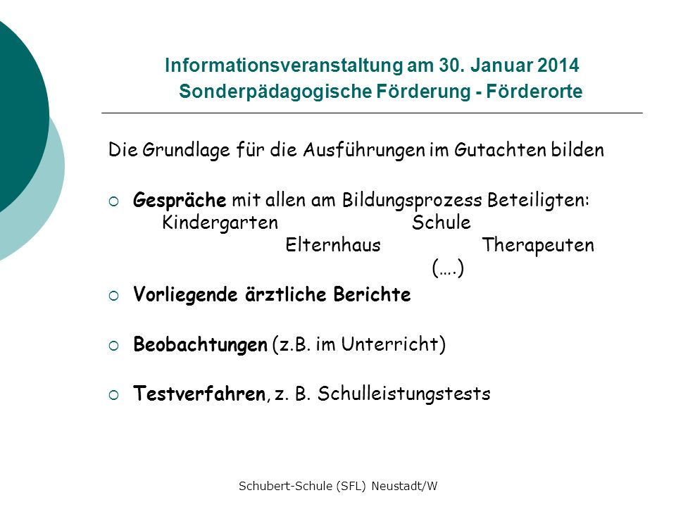 Schubert-Schule (SFL) Neustadt/W