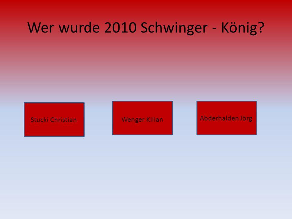 Wer wurde 2010 Schwinger - König