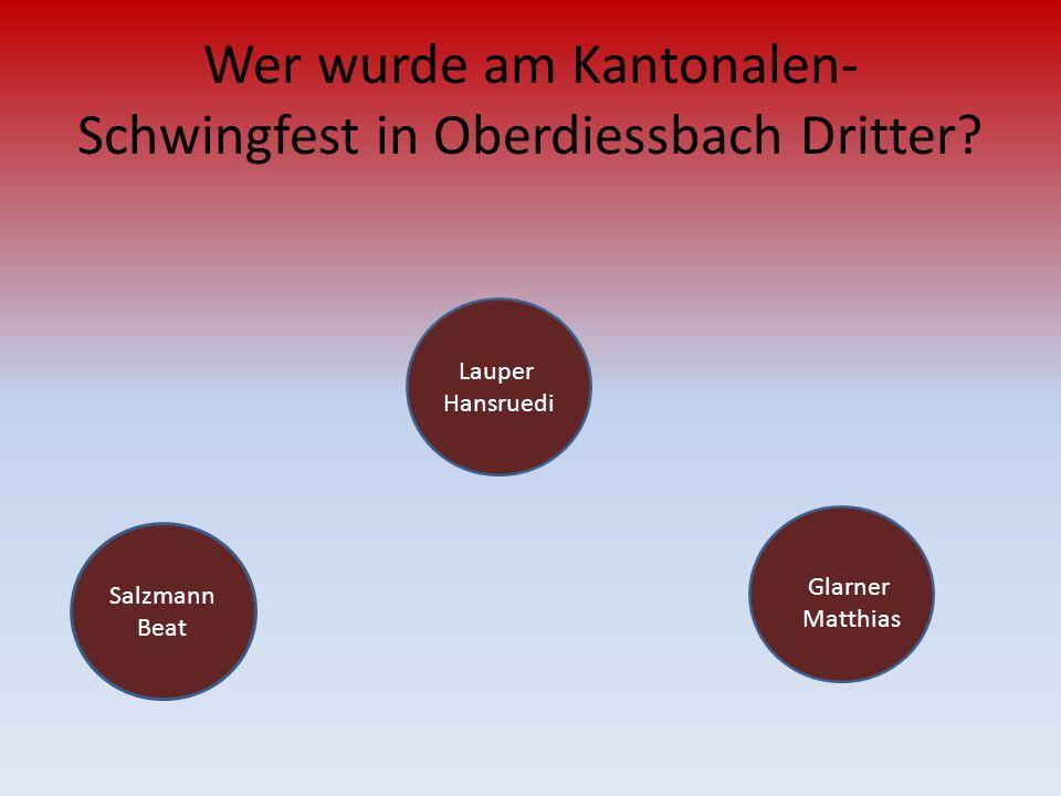 Wer wurde am Kantonalen-Schwingfest in Oberdiessbach Dritter