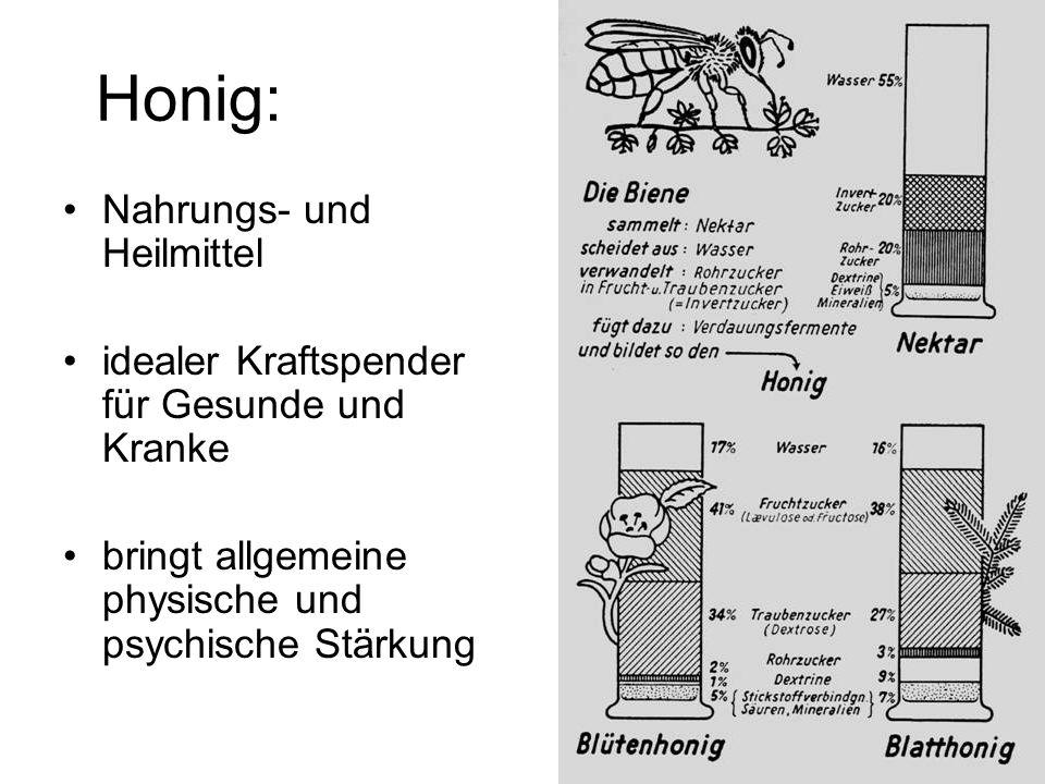 Honig: Nahrungs- und Heilmittel