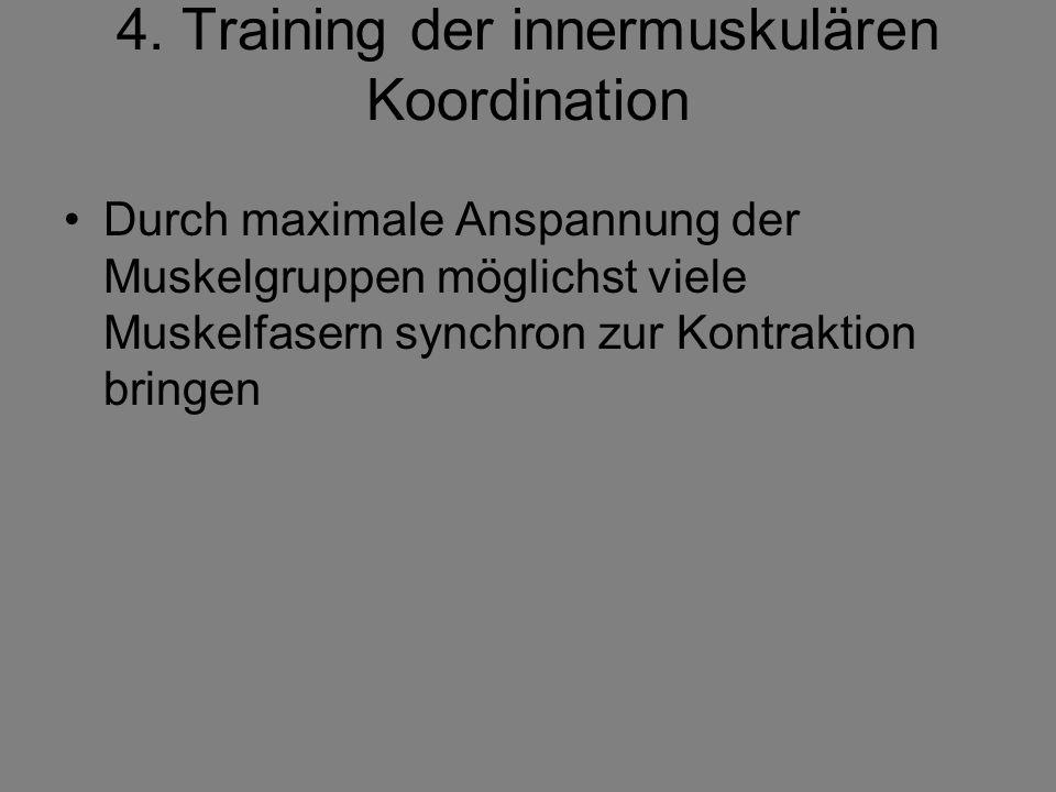 4. Training der innermuskulären Koordination
