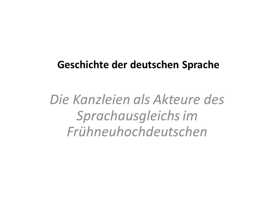 Geschichte der deutschen Sprache