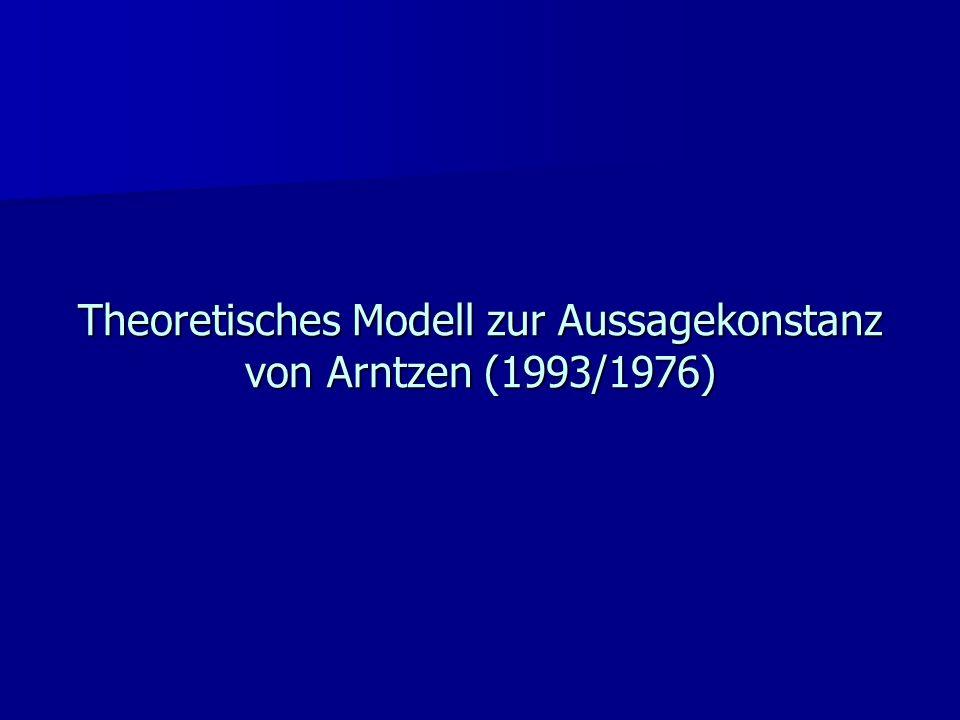 Theoretisches Modell zur Aussagekonstanz von Arntzen (1993/1976)