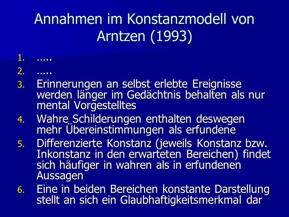 Annahmen im Konstanzmodell von Arntzen (1993)