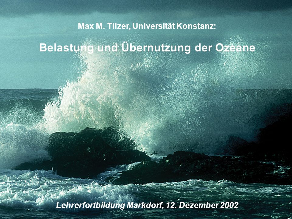 Belastung und Übernutzung der Ozeane