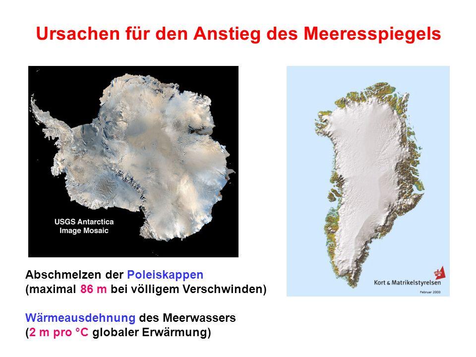Ursachen für den Anstieg des Meeresspiegels