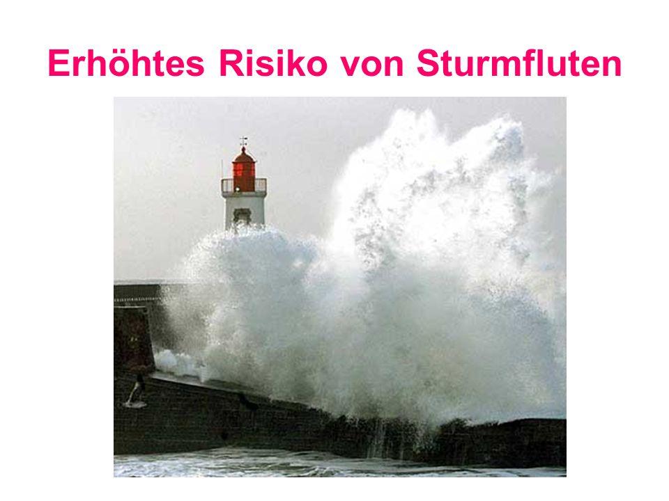 Erhöhtes Risiko von Sturmfluten