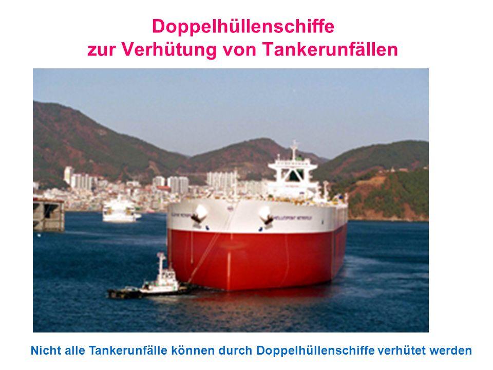 Doppelhüllenschiffe zur Verhütung von Tankerunfällen