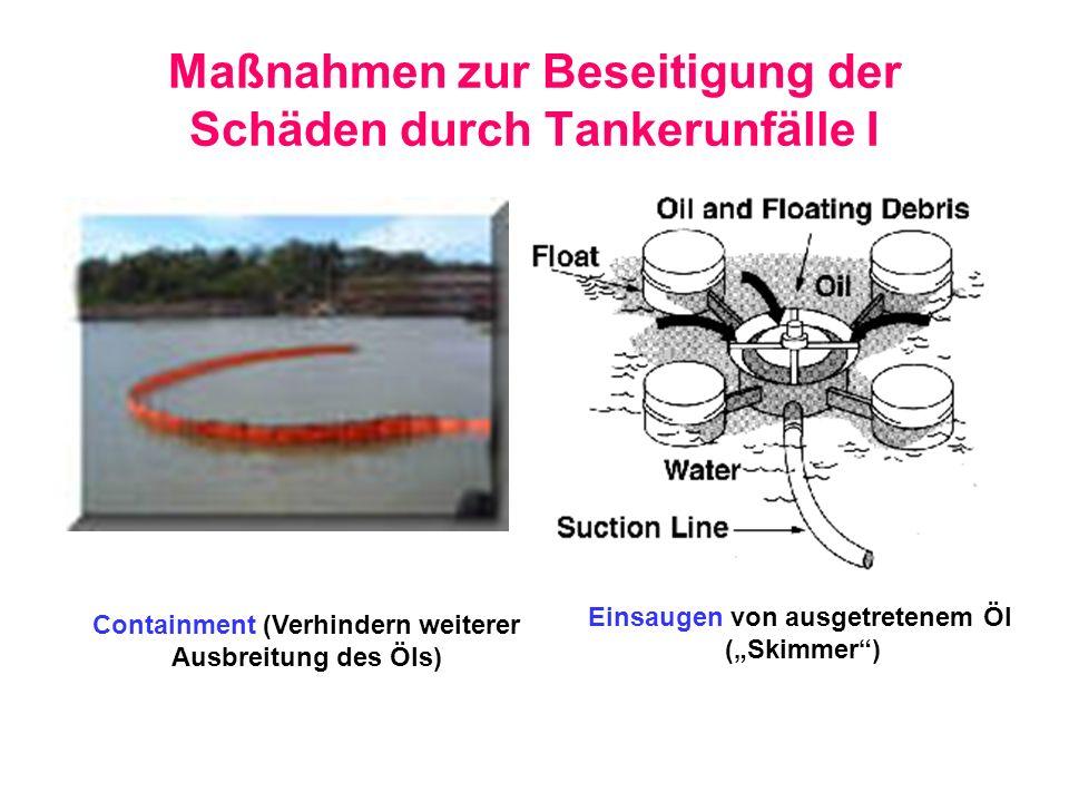 Maßnahmen zur Beseitigung der Schäden durch Tankerunfälle I