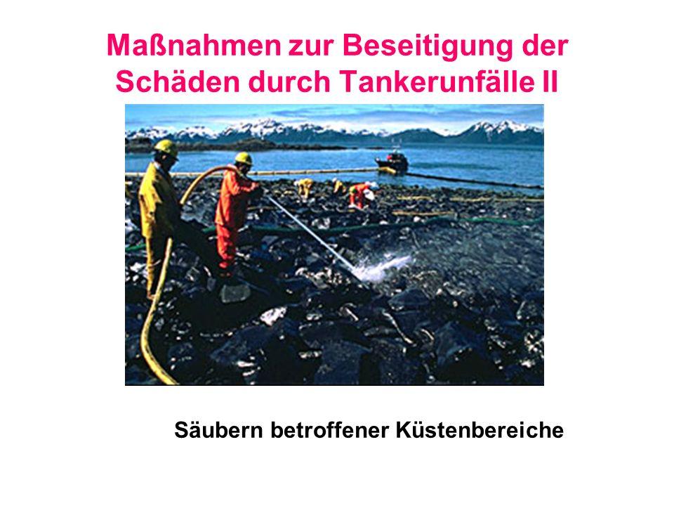 Maßnahmen zur Beseitigung der Schäden durch Tankerunfälle II