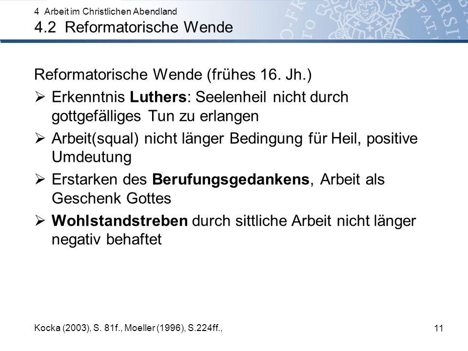 Reformatorische Wende (frühes 16. Jh.)