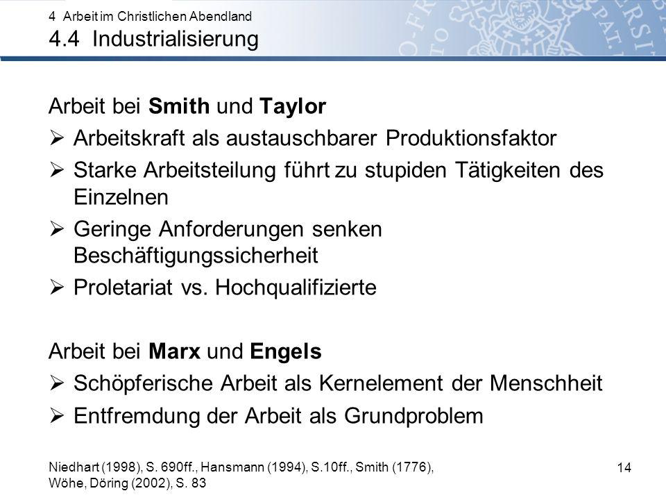 Arbeit bei Smith und Taylor