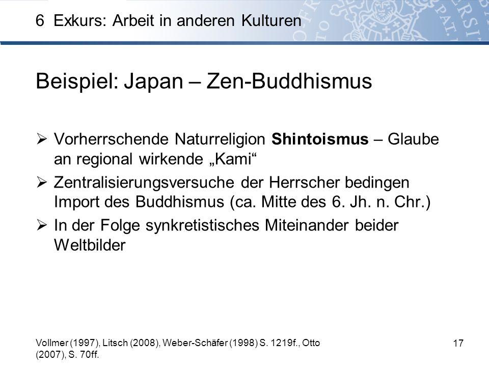 Beispiel: Japan – Zen-Buddhismus