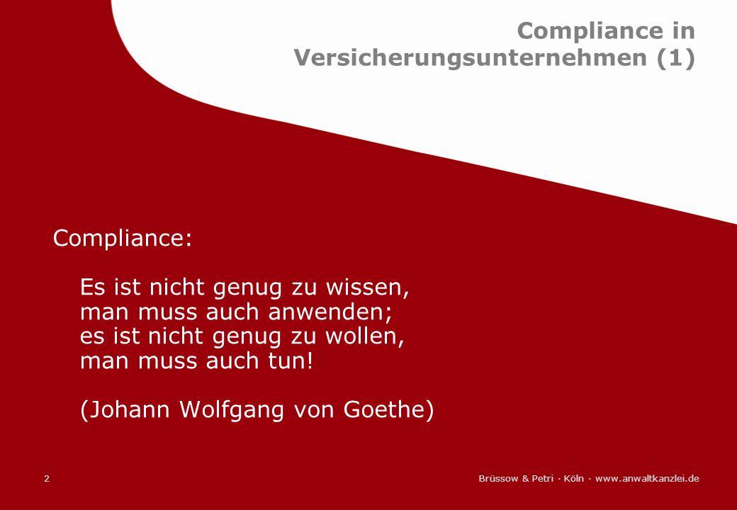 Compliance in Versicherungsunternehmen (1)