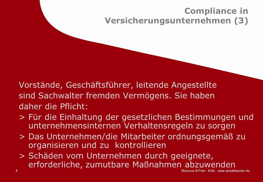 Compliance in Versicherungsunternehmen (3)
