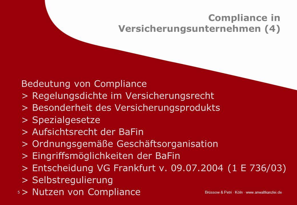 Compliance in Versicherungsunternehmen (4)