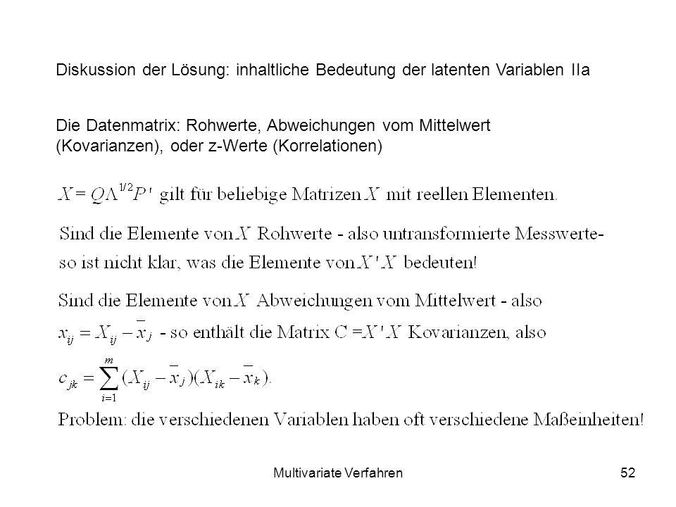 Multivariate Verfahren