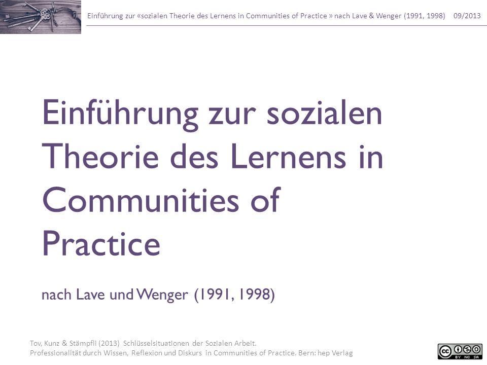 Einführung zur sozialen Theorie des Lernens in Communities of