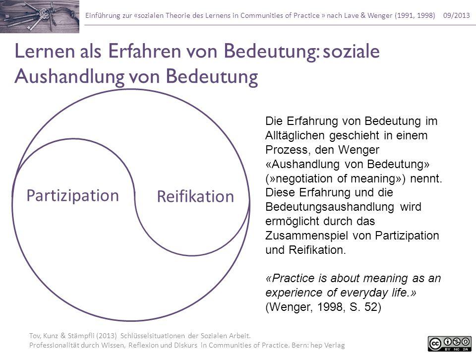 Lernen als Erfahren von Bedeutung: soziale Aushandlung von Bedeutung